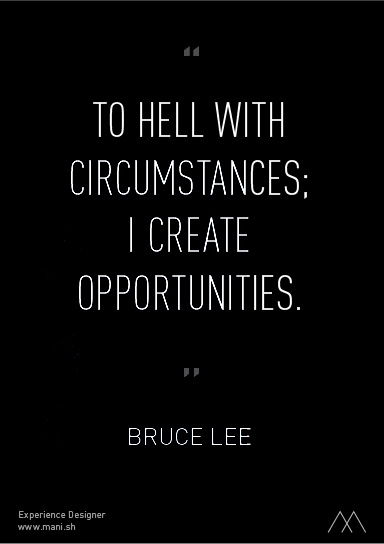 To Hell with Circumstance- Bruce Lee Image