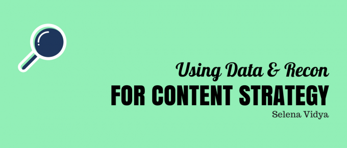 Using Data & Recon for Content